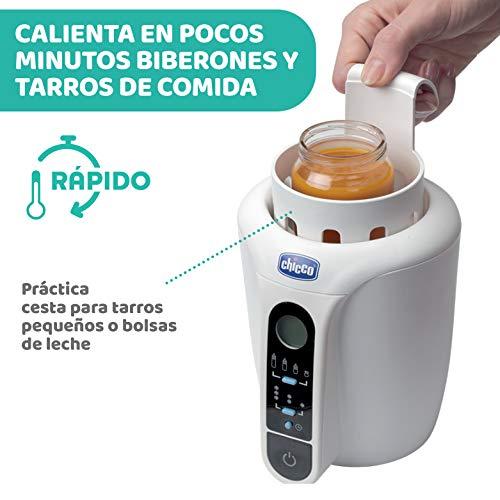 Chicco - Calienta biberón digital con 12 programas y descongelado, rápido, para biberones, leche marterna y potitos