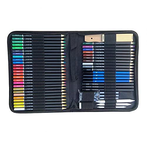 Mllkcao Ensemble de Peinture 55 pièces stylos Ensemble de Dessin kit de Croquis, Fournitures de Croquis d'art pour Artistes Adultes Adolescents débutants