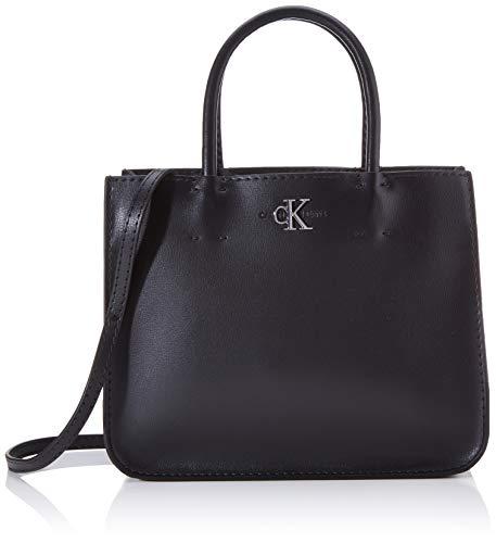 Calvin Klein - Ckj Mono Hardware Satchel, Bolsos maletín Mujer, Negro (Black), 1x1x1 cm (W x H L)