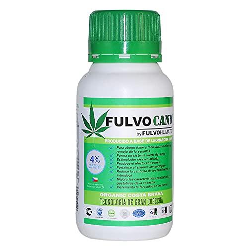AbonoFertilizanteOrgánico para Marihuana Cannabis de Ácidos Húmicos y FúlvicosLíquido/ Estimula Crecimiento Floración/Nutriente Superconcentrado (250 ML)