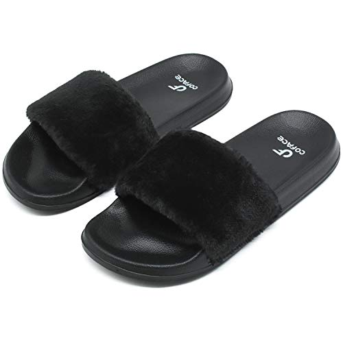 COFACE Pantofole da Donna, Outdoor/Indoor, Nero, 40 EU