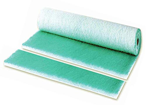 Filtro aire verde pintura PAINT STOP horno y cabina 1x20m fiber glass suelo
