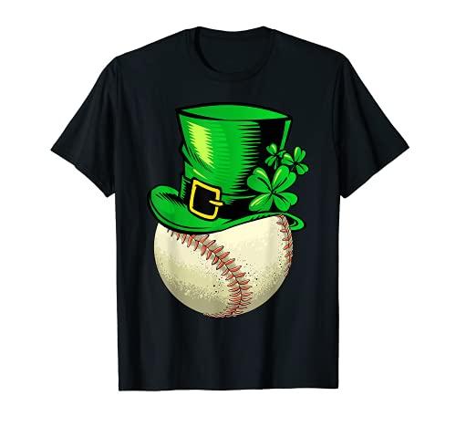 Divertido sombrero de leprechaun béisbol Día de San Patricio Camiseta