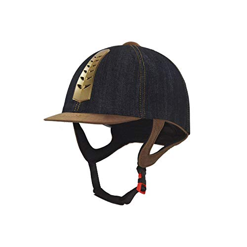 Sombreros para Montar a Caballo Casco Ecuestre Vintage Cómodo Ligero Unisex Equipo de protección para la Cabeza Casco de Seguridad para Montar cómodo,L