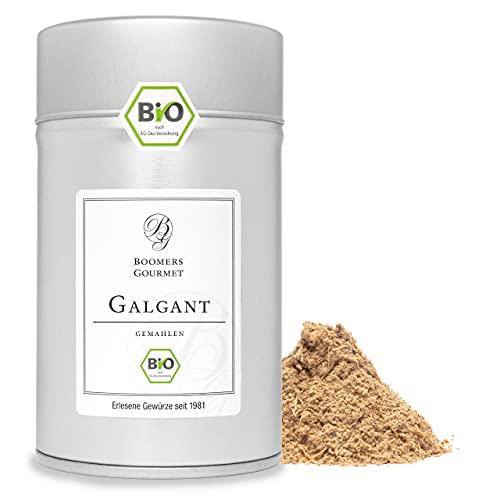 Boomers Gourmet - BIO Galgant Pulver, Galgant Bio gemahlen - Gewürzdose 11,5 cm - 100 g
