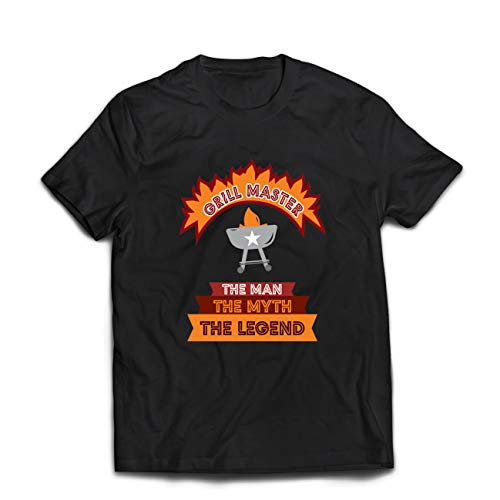 lepni.me Heren T-Shirt Grill Master Barbecue Grilling Chef BBQ Humor Gift