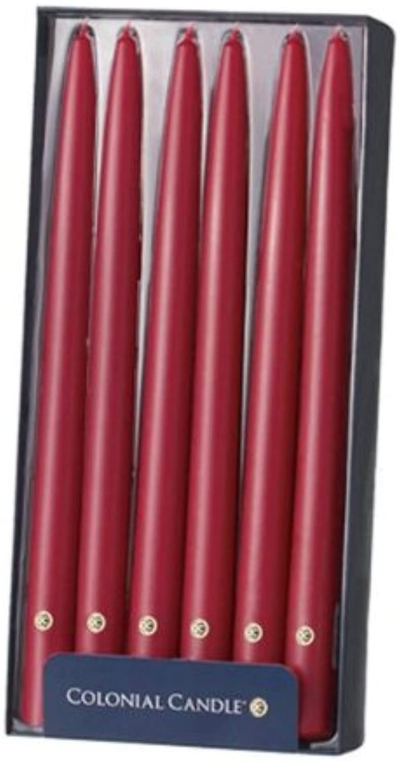Colonial Candle Traditional Cranberry 12 in Handipt Taper Candles