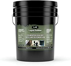 Liquid Rubber Concrete Foundation and Basement Sealant - Indoor & Outdoor Waterproof Coating, Easy to Apply, Black, 5 Gallon