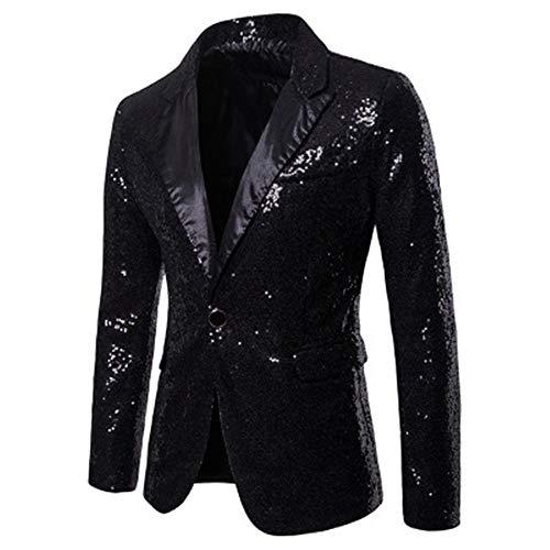 Generice Performance Dress Gold Lentejuelas Suit Nightclub - Chaqueta para hombre