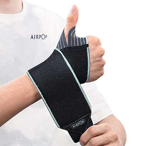 Wrist Wraps (2 Pack), AIRPOP Wrist Brace with Thumb Support, Wrist Compression Straps for Workouts, Gymnastics, Weightlifting, Men, Women, Fit Left and Right Hands
