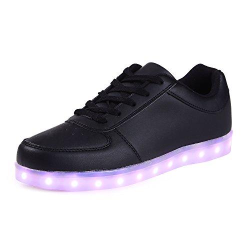 Saguaro 8 Farben LED Licht Paar Damen Herren Sport Schuhe Sneaker USB Aufladen Valentinstag Weihnachten Halloween