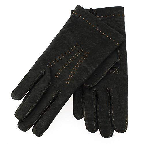 Guanti di Arcucci - Gant Cuir Noir Luxe, Agneau, Fait Main En Italie - 8-20.3cm - S