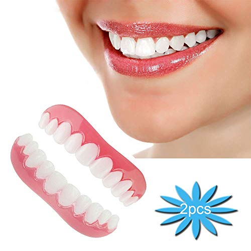 Snap on Smile Teeth Braces komfortable Kosmetische Erwachsene Zahn Oben und Unten Falschen Zähnen 2 Stück