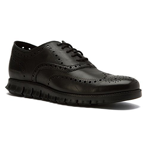 Cole Haan Men's Zerogrand Wing Ox Black Glove Open Holes Leather/Black Leather Oxford 12 D (M)
