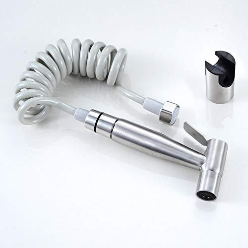 Kit de rociador para inodoro bidet - Bidet pulverizador de acero inoxidable 304 conjunto de pistola de inodoro doble entrada doble control doble válvula triangular 304