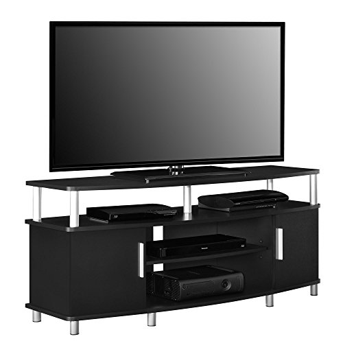 """Ameriwood Home Carson TV Stand for TVs up to 50"""", Black"""