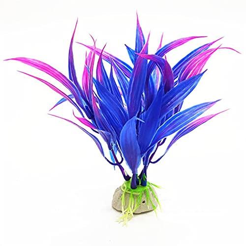 LJLSY Décorations de réservoir de Poisson Plantes d'aquarium décoration Simulation Plastique Herbe Poisson Fond décor Herbe Eau Ornement Aquarium Produits Sûr et Pratique