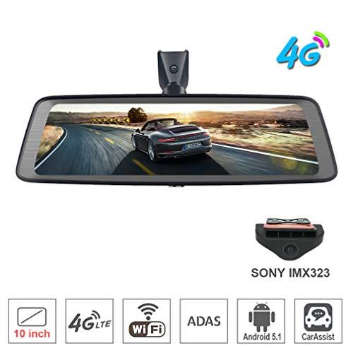 SZKJ K930 Schermo Intero 4G Touch IPS Speciale Auto DVR Dash Cam Retrovisore Retromarcia Specchio con RAM 2 GB ROM 32 GB GPS Bluetooth WIFI Remote monitoring Android 5.1 Dual Lens FHD 1080P