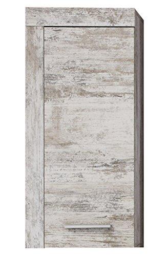 trendteam badkamer hoge kast kast Cancun Boom Hangkast in grenen wit 36 x 79 x 23 cm Pine wit, Chabby Chic Retro (NB.)