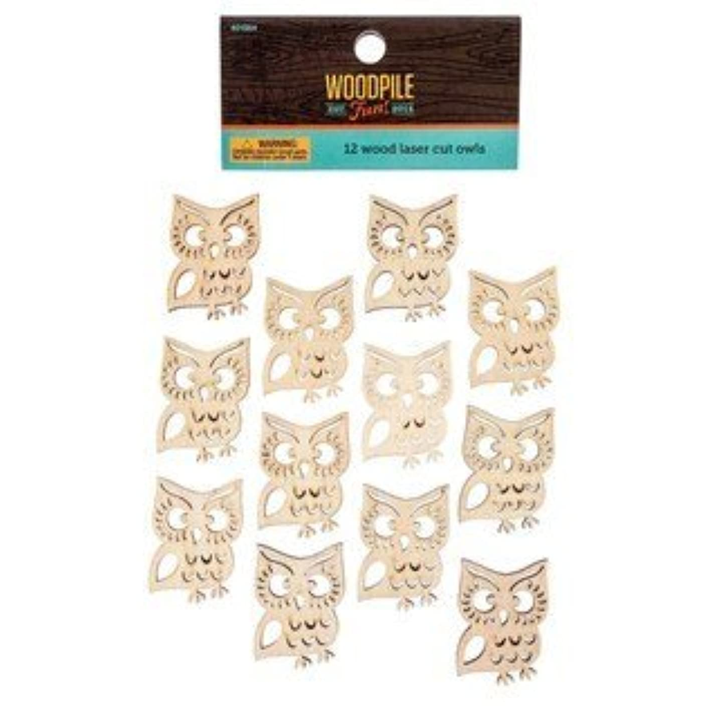 Laser Cut Adhesive Back Wooden Owls From TheCraftyCrocodile