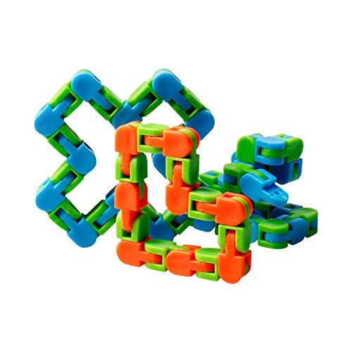 Spielzeug Zappelkette Puzzle Chain Toys Schlange Armband Fahrradkette Zappeln Spinner Lernspielzeug Sensory Fidget Zufällige Farbe Lustige für Kinder Erwachsene
