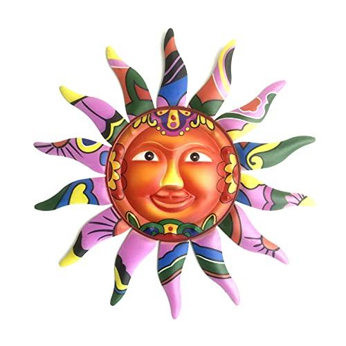 Zuoye Décoration murale en fer à suspendre en forme de soleil pour intérieur et extérieur