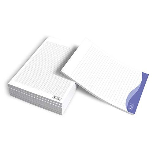 Blocco Note A4 da 50 fogli 80gr - CONF. da 8 BLOCCHI - Block Notes con logo aziendale, gommati in testa, quaderno per scrivere appunti (A4 (21x29,7 cm))