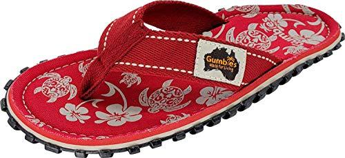 Gumbies, Islander Zehentrenner Unisex, Farbe: Pacific Red, Größe: 46
