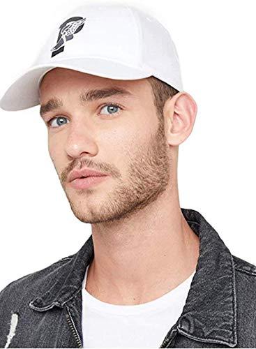 Ralph Lauren Herren P-Wing Baseline Schirmmütze Kappe Weiß One Size
