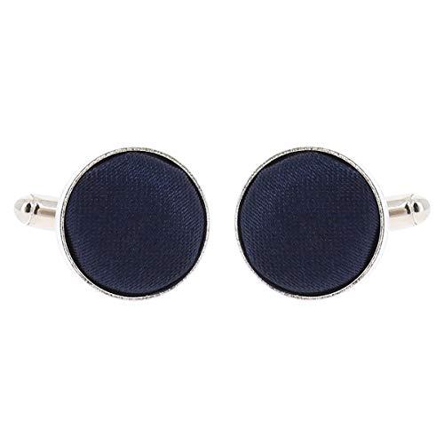 Boutons de Manchette Bleu marine pour Homme - Accessoire Poignet Chemise et Veste de Costume - Mariage, Cérémonie