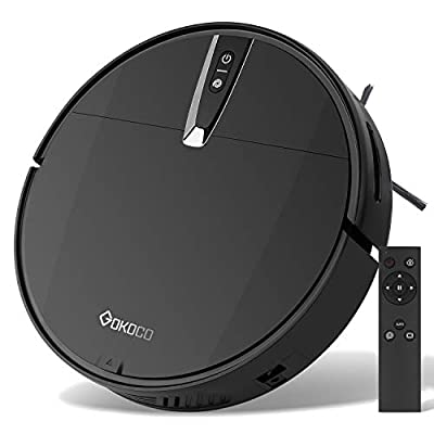 GOKOCO Robot Vacuum Cleaner,Auto Robotic Vacuums with Upgraded 2000Pa Strong Suction, Infrared Collision Sensor,Slim and Quiet Smart Cleaning Robot for Pet Hair, Hard Floor, Carpets?Remote Control