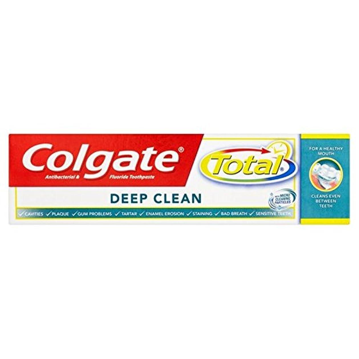 朝二割り当てるコルゲートトータル深いクリーン歯磨き粉75ミリリットル x4 - Colgate Total Deep Clean Toothpaste 75ml (Pack of 4) [並行輸入品]