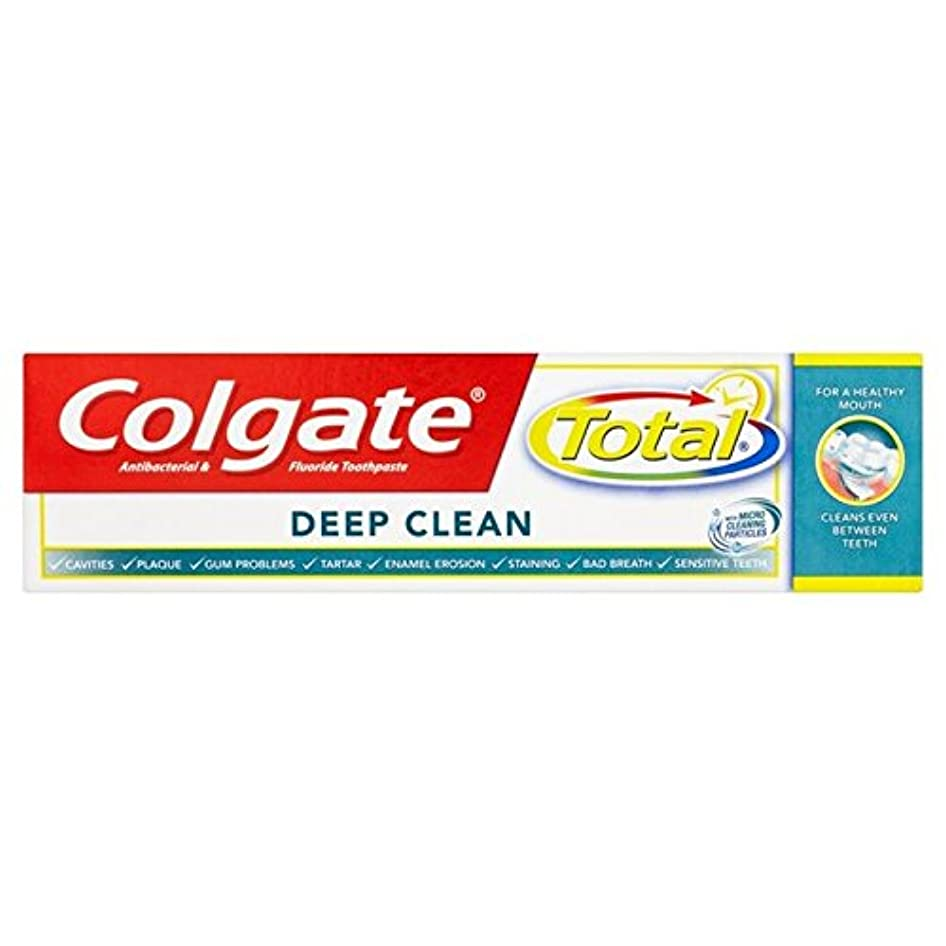 苦しみ前述のであることコルゲートトータル深いクリーン歯磨き粉75ミリリットル x4 - Colgate Total Deep Clean Toothpaste 75ml (Pack of 4) [並行輸入品]