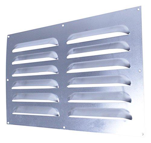 xls-air 6–5030A Aluminium Feste Ventilator mit großen Belüftungsgitter–Silber