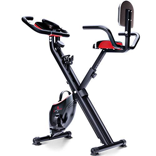 Sportstech X100 Cyclette da Casa Pieghevole F-Bike Sistema Brevettato di Resistenza a...