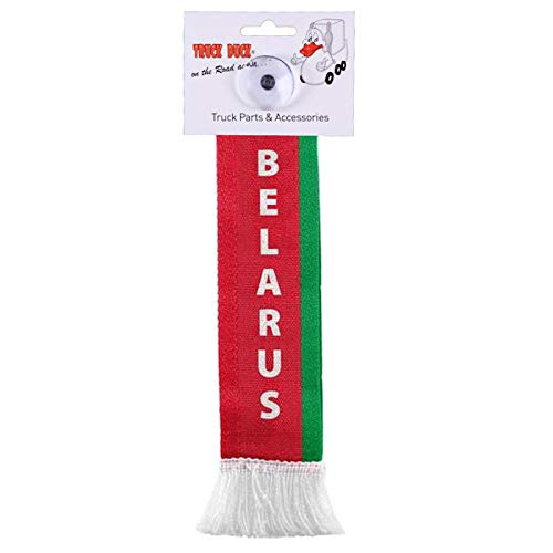 TRUCK DUCK® LKW Auto Minischal Belarus Weißrussland Mini Schal Wimpel Flagge Fahne Saugnapf Spiegel Deko