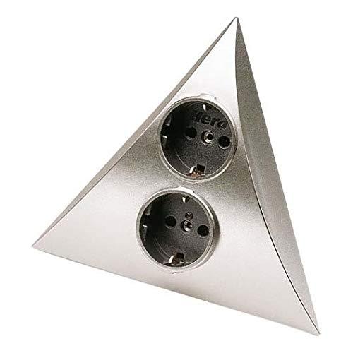 Preisvergleich Produktbild Hera Möbel-Doppelsteckdose Luxor 2ST D chr-mt Luxor Steckdose 4051268071260
