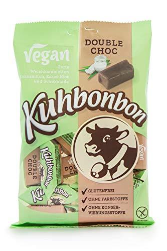 Kuhbonbon Vegan Double Choc 165g - Vegane Schokoladen Karamellbonbons