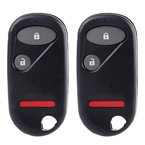 OCPTY 2X Flip Key Entry Remote Control Entry Remote key Fob for 01 02 03 04 05 06 07 for H onda Civic Pilot NHVWB1U523 NHVWB1U521 08E61-S5D-1M001.