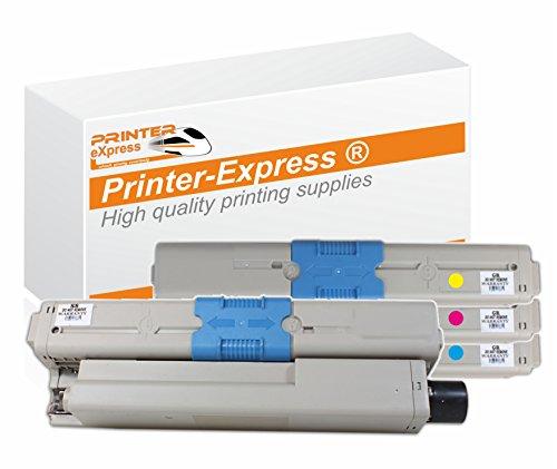 Printer-eXpress XL Toner 4er Set für C310, C330, C331, C510, C511, C530, C530DN, C531, C531DN, MC351, MC351DN, MC352, MC352DN, MC361, MC361DN, MC362, MC362DN, MC561, MC561DN, MC562, MC562DN Drucker