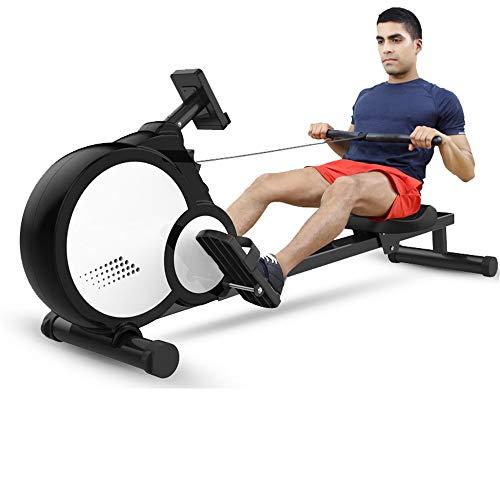 Asffdhley Rudergerät Haushalt Folding Rudergerät Fitnessstudio oder Professionelle Ausrüstung Benutzte Home Indoor Sportgerät Laden 150kg für Fitness (Color : White, Size : 50x49x180cm)