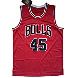 Michael 45# Camiseta de Baloncesto, Chaleco de algodón Retro de algodón...