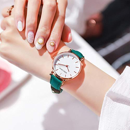 Powzz ornamento Simple moda señoras reloj femenino reloj de escuela media estudiantes cinturón reloj cuarzo relojes
