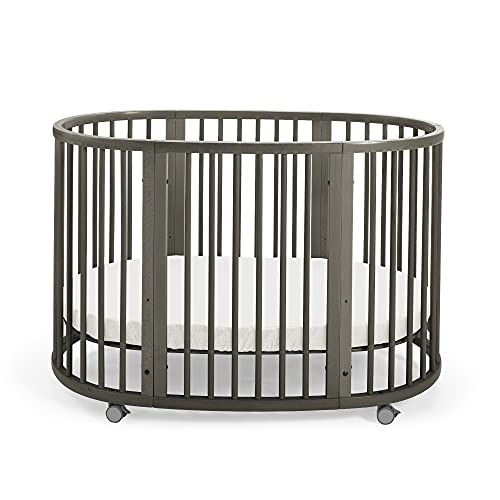Stokke Sleepi Crib/Bed, Hazy Grey - Crib & Bed for Babies 0-36 Months - Adjustable, Stylish & Flexible - Optional Extension Kit for Children Up to 10 Years Old