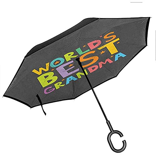 Modello gotico monocromatico in pizzo stile ombrello inverso per auto con rose romantiche vintage e teschi incrociati a doppio strato