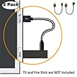 USB Cable for Fire Stick, Power Cable for Amazon Fire Stick Power up your Fire Stick form your TV's USB port, USB Cable Cord for Amazon Fire Stick, Chromecast, Roku Stick, 2 Pack (20cm/7.8 Inch)