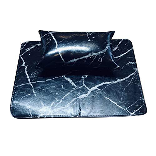 YJS Kunstleer Nagel Art Hand Kussen Tafelmat Manicure Pad Set Hand Arm Rest Kussen Tafelmat Manicure Tool - Zwart, Zwart