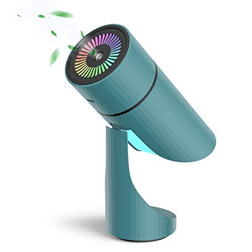 Humidificador Mini - NTHJOYS Unidad de humidificación con Tanque de Agua de 260ml, Funcionamiento ultrasónico silencioso, y Función de luz Nocturna(Color)Hogar, Oficina,Humidificador de coche