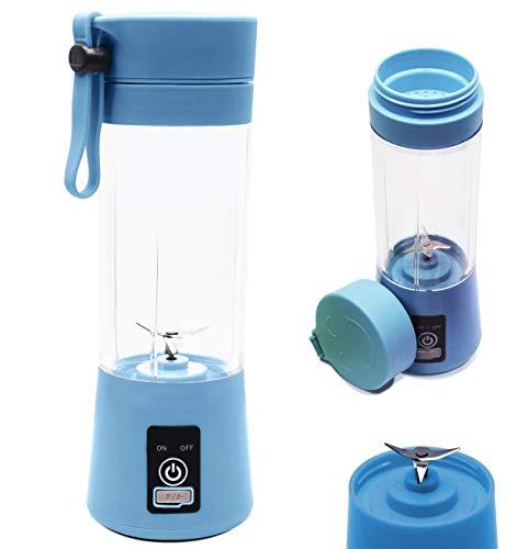 Mini Liquidificador Portátil Shake Juice Cup + Cabo Usb, Cor: Azul