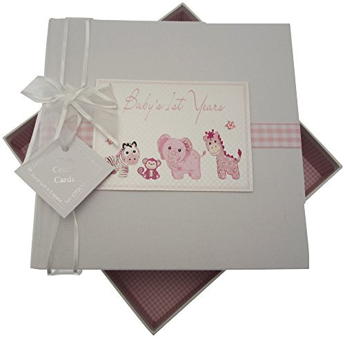 White Cotton Cards Baby's First Years Medium Album Jouets (Rose)